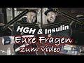 HGH & Insulin - Eure Fragen zum Video! I.M oder subkutan? Wirkung bei Frauen? Wirkt nur mit Testo?