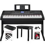 Yamaha DGX-660 88 Key Grand Digital Piano with Knox Piano Bench,Pedal,Dust