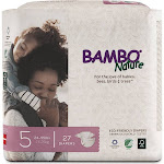 Bambo Nature Premium Baby Diapers, Size 5, 27 Diapers, White