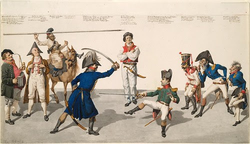 The Fencing Lesson (Napoleon caricature)