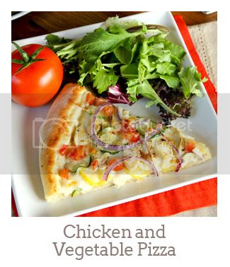 """""""Chicken And Vegetable Pizza"""""""