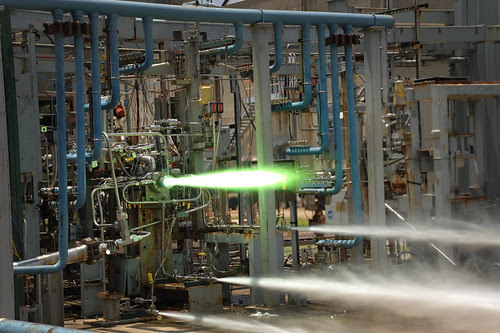 Test Firing of 3-D Printed Part (NASA, Space Launch System, 07/24/13) by NASA's Marshall Space Flight Center