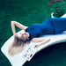 Marissa Mayer, the chief of Yahoo, shows her glamorous side in the new issue of Vogue.