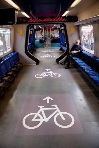 Vagones para bicis en los Cercanías de Copenhage