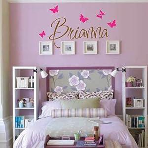 Amazon.com - Brianna Wall Decal - Girls Room - Childrens Wall ...