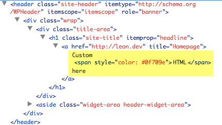 How to replace Site Title text with custom HTML in Genesis - Sridhar Katakam