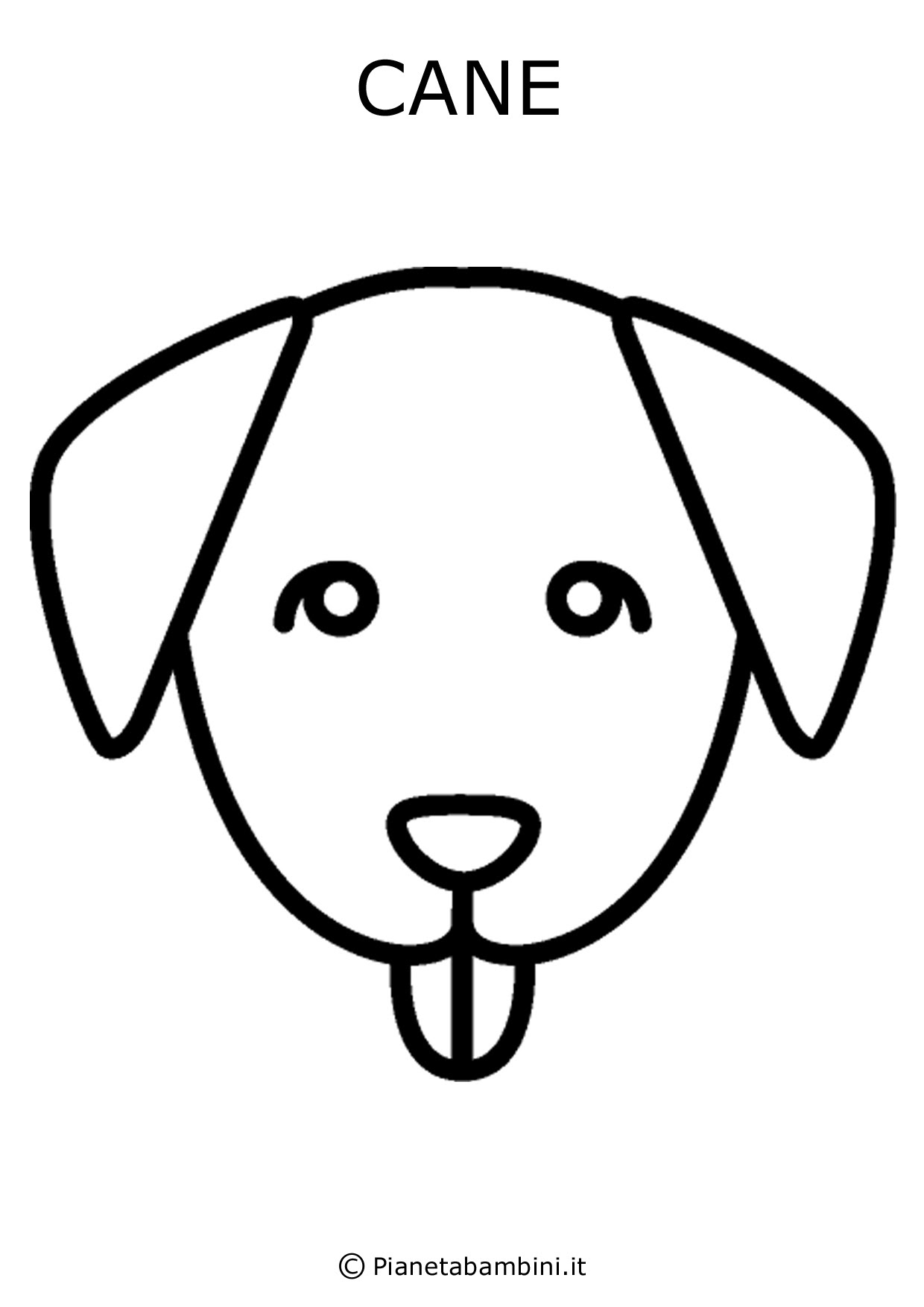 Disegni Di Cani Facili Stampae Colorare