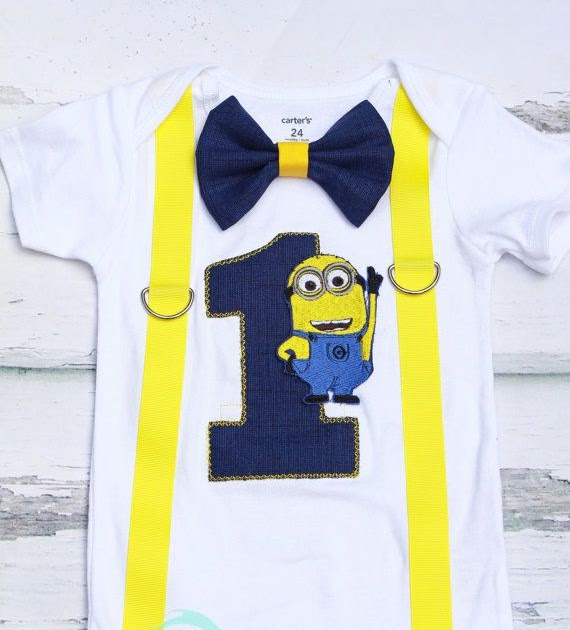 f8bb1aaa7 Minion 1st Birthday Shirt | Birthday Ideas