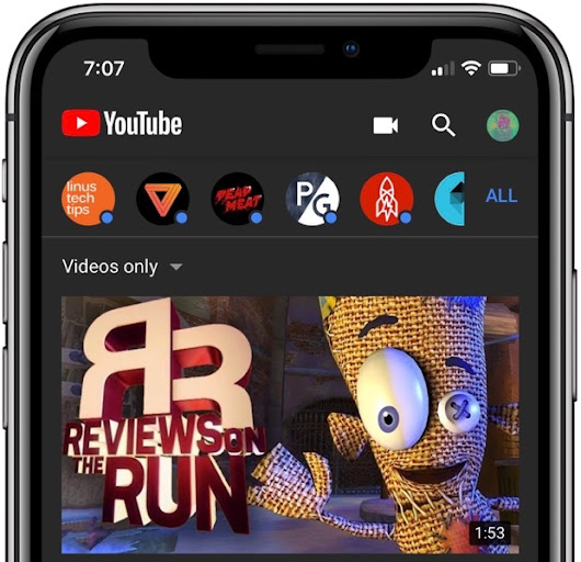 YouTube Mobile Ap Gets A Dark Theme