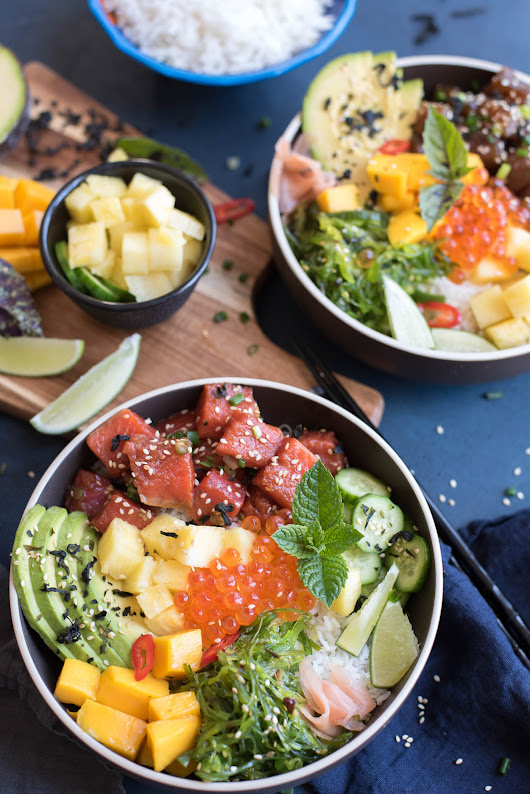 Tuna and Salmon Poke Bowls - GastroSenses