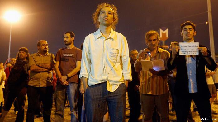 Der Vater des stillen Protests in der Türkei: der Choreograph Erdem Gündüz (Foto: Reuters)