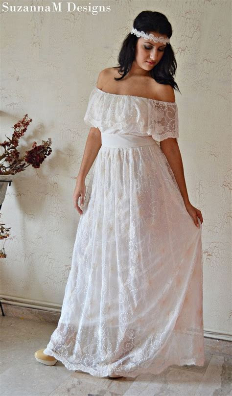 Ivory 100% Cotton Lace 70s Wedding Dress / Vintage Wedding