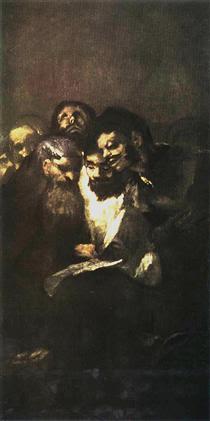 Men reading - Francisco Goya