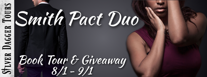 Book Tour Banner for the the Smith Pact Duo romance series by Ja'Nease Dixon with a Book Tour Giveaway