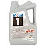 Mobil 1 15W-50 Advanced Full Synthetic Motor Oil - 5 qt jug