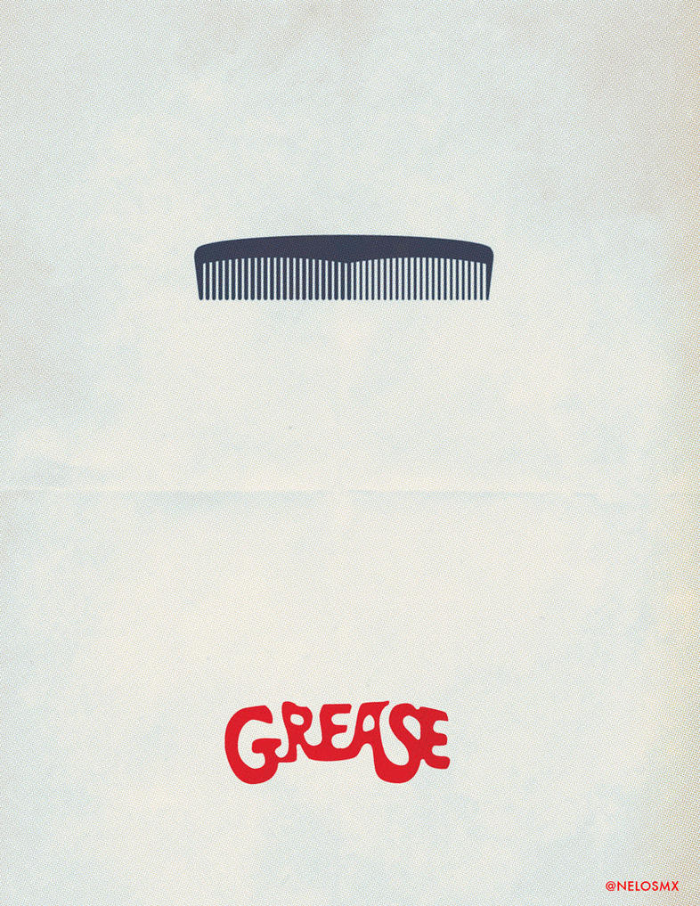 Minimalist Movie Poster: Grease by nelos on DeviantArt