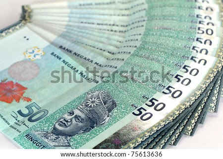 malaysian currency - RM50 - stock photo
