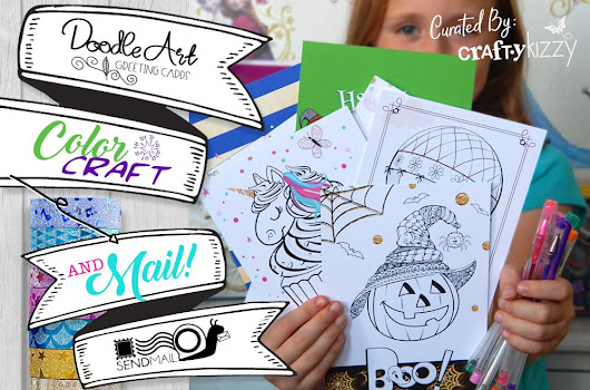 Doodle Art Greetings Cards by CraftyKizzy | It's Raining Crafts & Dogs