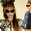 Strike a pose! Beyonce models her edgy new wardrobe in kooky snaps