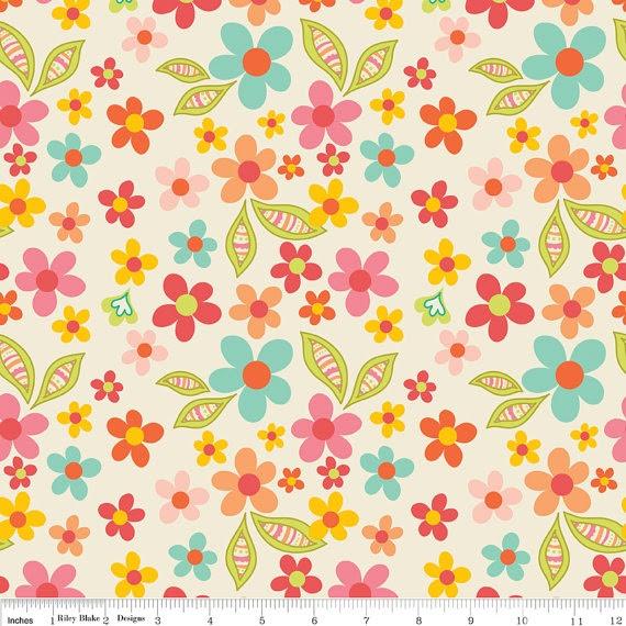LAMINATED cotton fabric sweet nothings floral aka by Laminates, $12.95