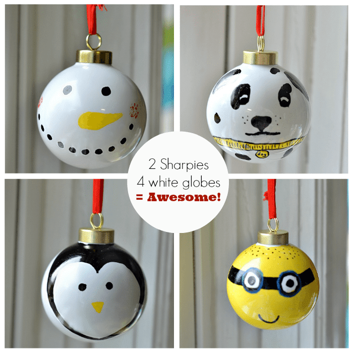 How to make easy ornaments with Sharpies