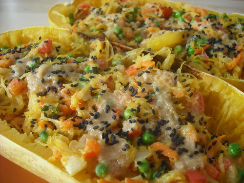 Sesame-Stuffed Spaghetti Squash