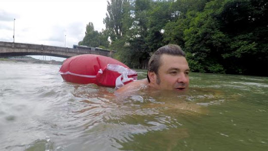 The man who swims to work