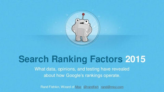 Search Ranking Factors in 2015