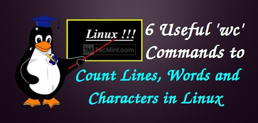 6 WC Command Examples to Count Number of Lines, Words, Characters in Linux