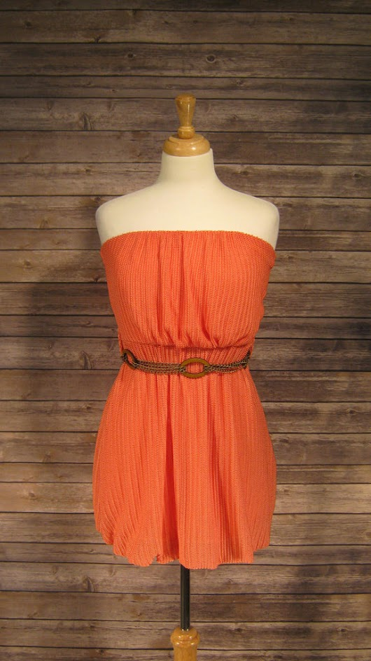 Body Central Coral Strapless Dress Size 4 – Affordable Designer Boutique