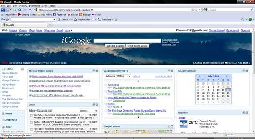 iGoogle on Mozilla Firefox