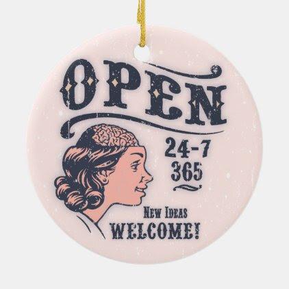 Open Mind -f Ceramic Ornament
