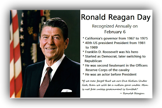 Ronald Reagan Day | Time for the Holidays