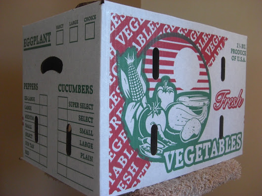 1 1/9 BUSHEL Waxed Vegetable Produce Box KD-131