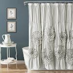 Lush Decor Serena Shower Curtain Light Gray Single 72`` x 72``