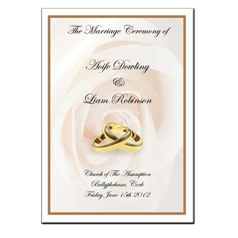 Wedding Mass Booklet   Colour Cover 1
