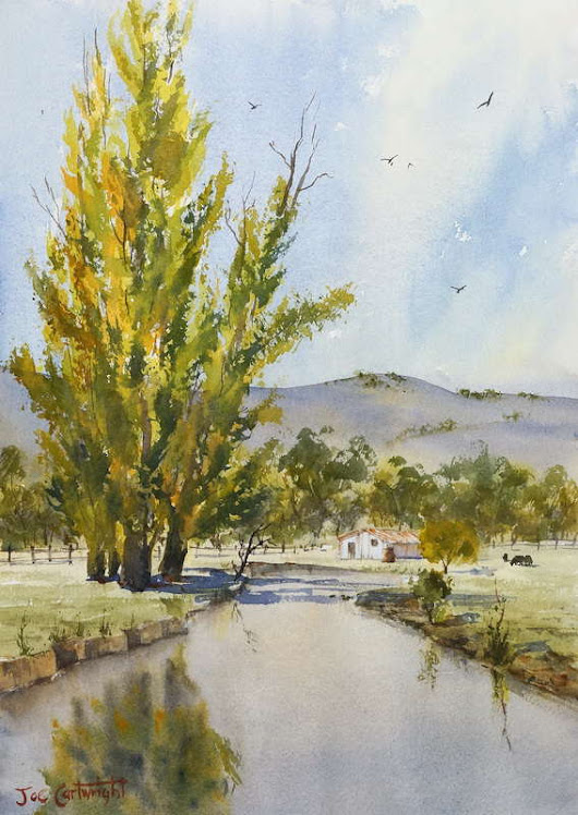 Plein air painting lesson – Changing light - Painting With Watercolors