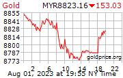 Gold Price Per Gram in Ringgits