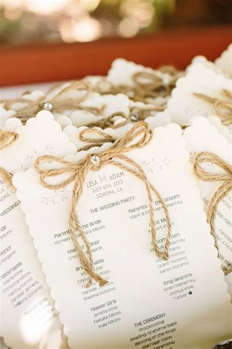 17 Best ideas about Wedding Programs on Pinterest