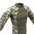 Download Free 3D Army Clothing Combat Shirt OBJ Model - CG Elves