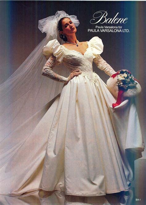 Paula Varsalona 1983   1980s Wedding Gowns   1980s wedding