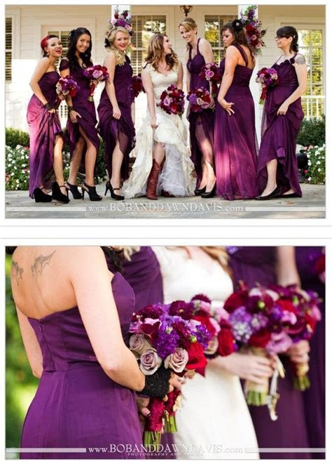 Plum and red for a fall wedding    I want these colors