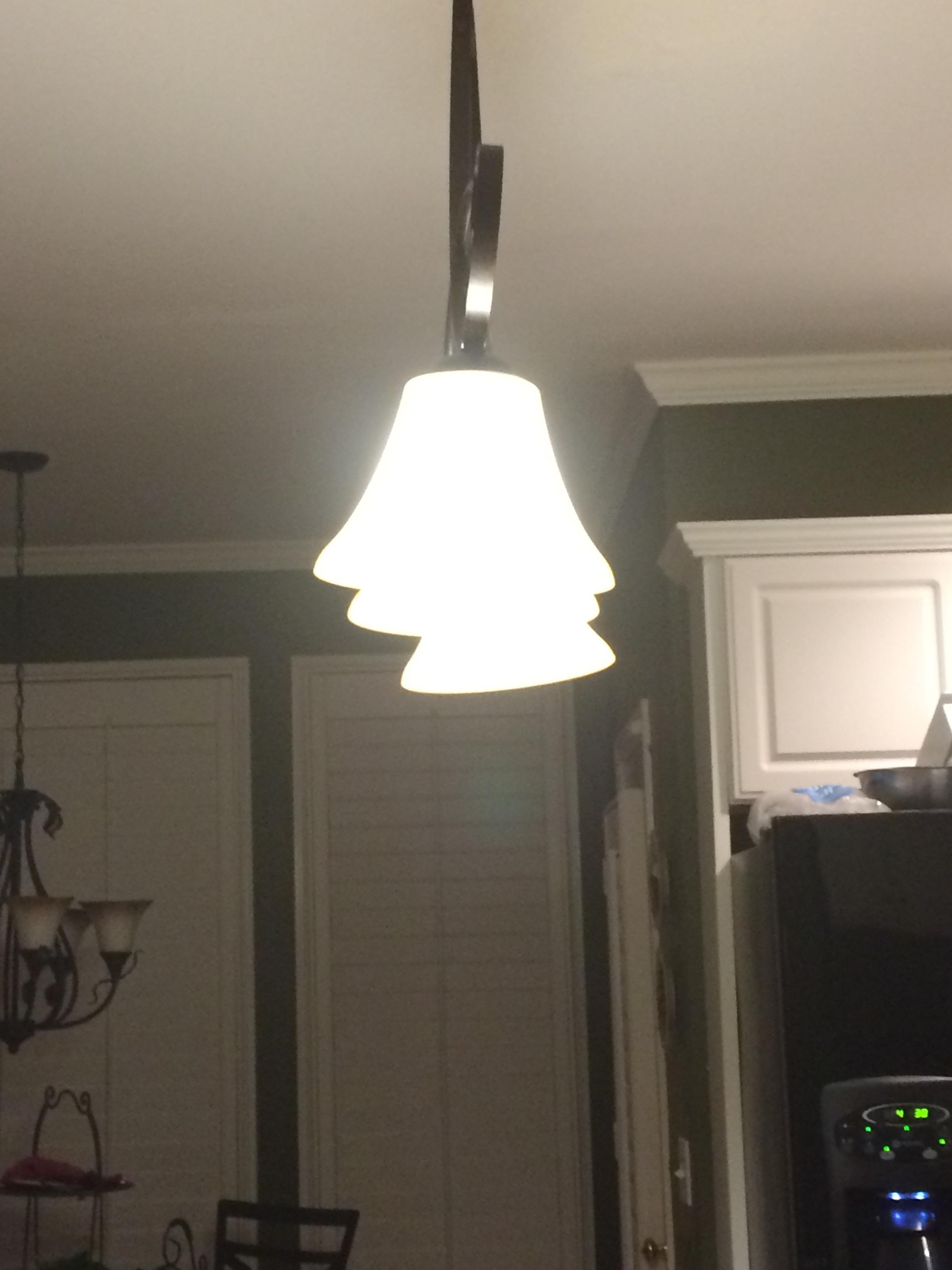 Need to level the glass shades on a hampton bay 3 tier pendant light