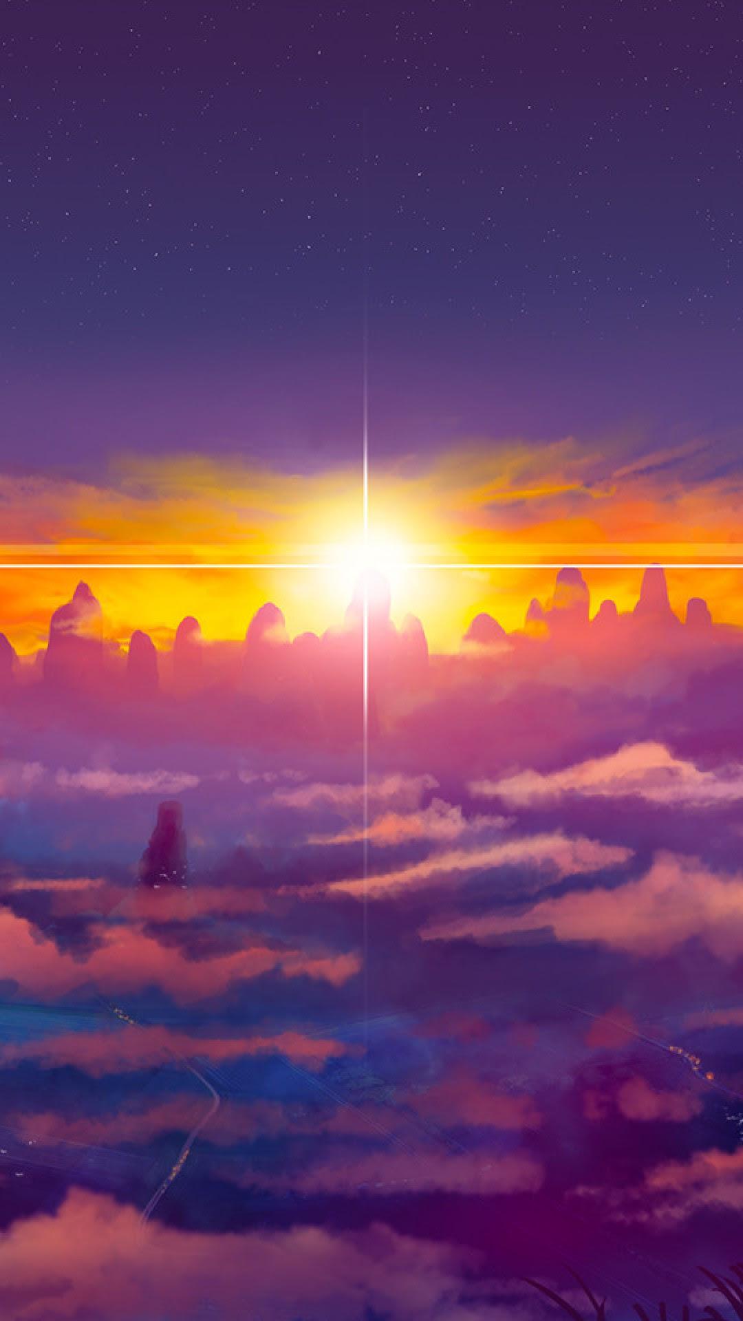 Anime Sunset HD Wallpaper iPhone 6 / 6S Plus - HD ...