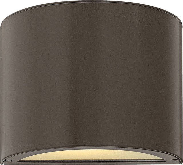 """Contemporary Hinkley Luna Up-Down 9"""" Wide Bronze Outdoor Wall"""