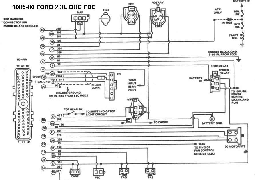 85 Mustang Wiring Diagram
