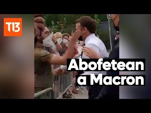 │Video│ Presidente de Francia es abofeteado por un hombre durante un viaje oficial