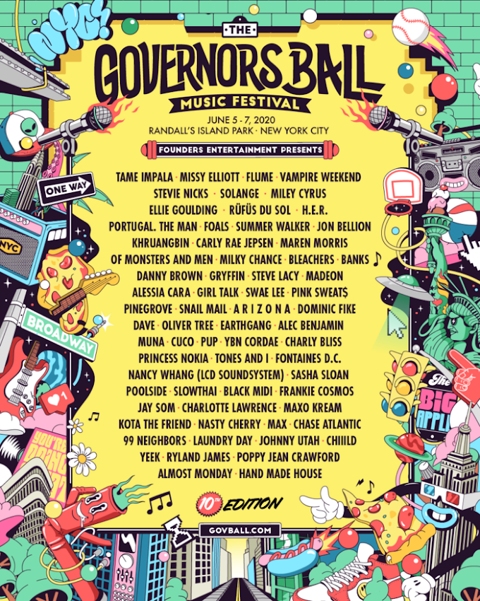 10th Annual Governors Ball Music Festival: Tame Impala, Missy Elliott, Vampire Weekend, Stevie Nicks and More
