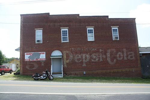 Ancient Pepsi-Cola billboard - Rural Hall, NC