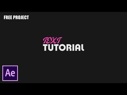 After Effects Tutorial Motion Graphic Text Tutorial - No Plugin(Free Project)
